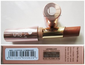 Lakme 9 to 5 Lip Color in Coffee Command: Review/Swatches/LOTD