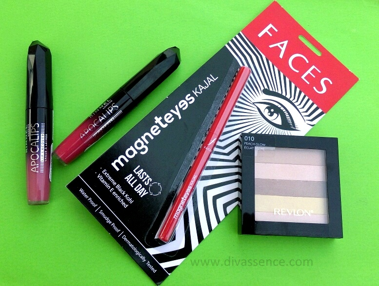 Nykaa Haul Rimmel Apocalips, Faces Kajal,  Revlon Blush