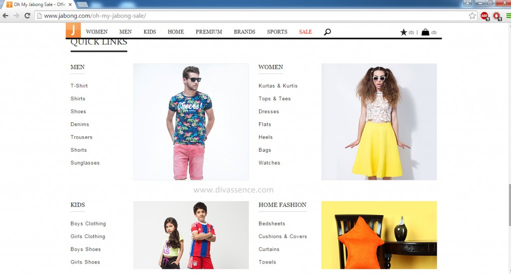 Jabong.com Indian online shopping site review