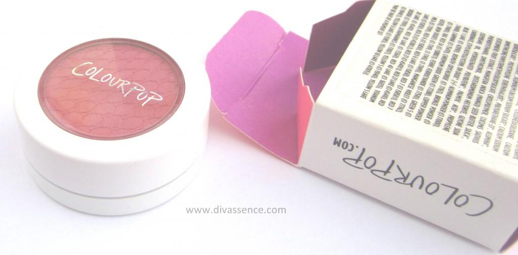 Colourpop Prenup blush swatch