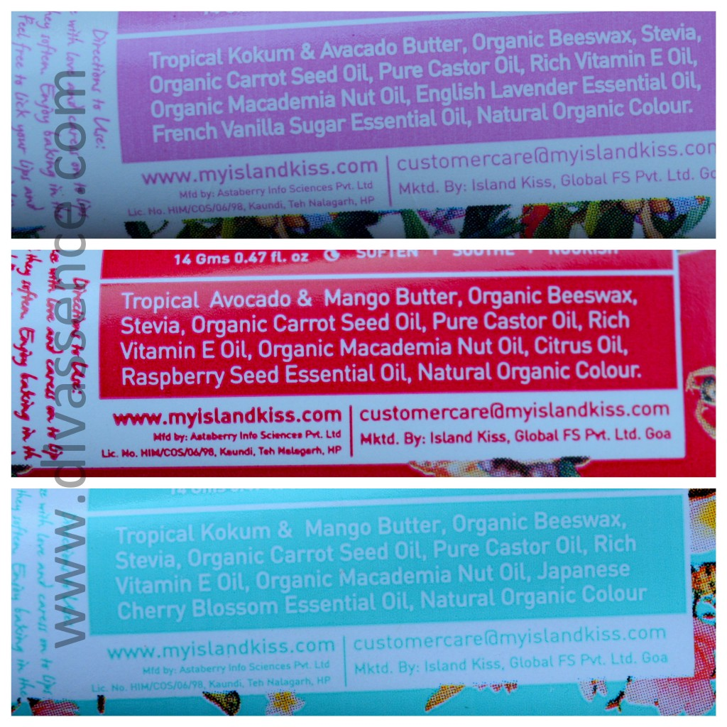Island kiss lip moisturiser ingredients, review, where to buy in India online